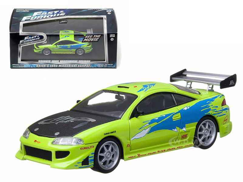 1995 Mitsubishi Eclipse Fast /& Furious Brian Artisan Collection 1:18 GreenLight