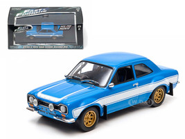 """Brian's 1974 Ford Escort RS2000 MK 1 """"The Fast and The Furious"""" Movie (2013) 1/43 Diecast Model Car Greenlight 86222"""