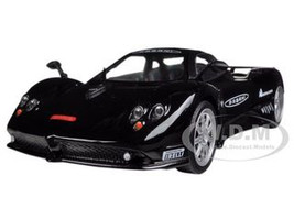 Pagani Zonda F Nurburgring Black 1/24 Diecast Car Model Motormax 73370