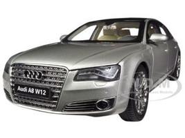 Audi A8 L W12 Cuvee Silver 1/18 Diecast Car Model Kyosho 09231