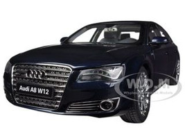 Audi A8 L W12 Night Blue 1/18 Diecast Car Model Kyosho 09231