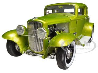 1932 Ford 5 Five Window Release #1 Lime Grand National Deuce Series Limited to 996pc 1/18 Diecast Model Car Acme A1805006