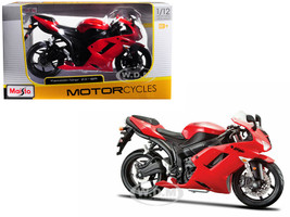 Kawasaki Ninja ZX-6R Red Motorcycle Model 1/12 Maisto 31155