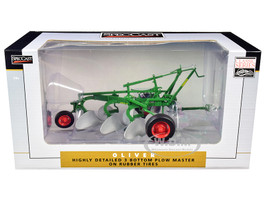 Oliver 3-Bottom Plow Master Rubber Tires Green Classic Series 1/16 Diecast Model SpecCast SCT422