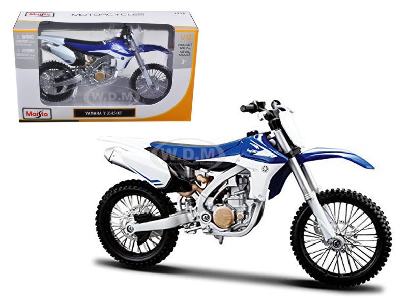 Yamaha YZ450F Blue White 1/12 Diecast Motorcycle Model Maisto 13021