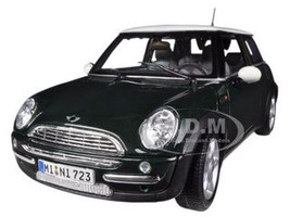 Mini Cooper With Sunroof Green 1/18 Diecast Model Car Maisto 31656