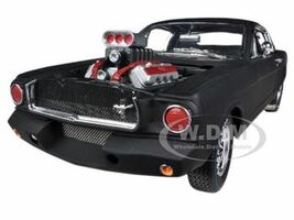1965 Ford Shelby Mustang GT350R With Racing Engine Matt Black 1/18 Diecast Car Model Shelby Collectibles 178