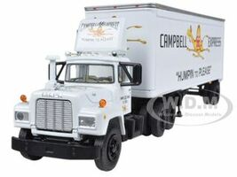 Mack R Model With 28' Pop Trailer Campbell 66 Express 1/64 Diecast Model First Gear 60-0254