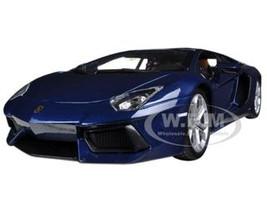2012 Lamborghini Aventador LP700-4 Blue 1/18 Diecast Car Model Bburago 11033