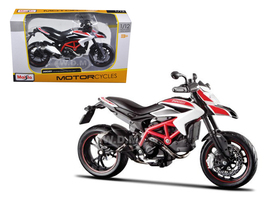 2013 Ducati Hypermotard SP White Motorcycle Model 1/12 Maisto 13015
