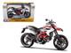 2013 Ducati Hypermotard SP White Motorcycle Model 1/12 Maisto 13015