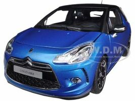 2011 Citroen DS3 Blue / Black 1/18 Diecast Car Model Norev 181539