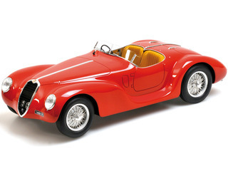 1939 Alfa Romeo Corsa 6C 2500 SS Spider Red 1/18 Model Car Minichamps 107120230