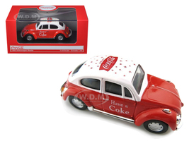 1966 Volkswagen Beetle Coca Cola Red 1/43 Diecast Car Model Motorcity Classics MCC440030