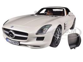 2011 Mercedes SLS AMG Roadster Pearl White 1/18 Diecast Car Model Norev 183491