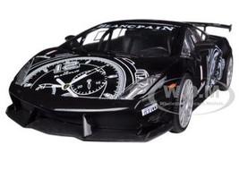 Lamborghini Gallardo LP560-4 Black Super Trofeo GT Racing 1/24 Diecast Car Model Motormax 73363