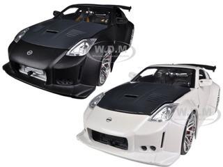 2003 Nissan 350Z White & Black 2 Cars Set 1/24 Diecast Car Models Jada 96810