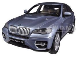 BMW X6 Active Hybrid Blue Water Metallic 1/18 Diecast Car Model Kyosho 08763