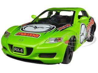 Mazda RX-8 Green #5 GT Racing 1/24 Diecast Car Model Motormax 73778