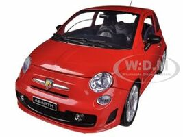 Fiat 500 Abarth Red 1/18 Diecast Car Model Motormax 79168