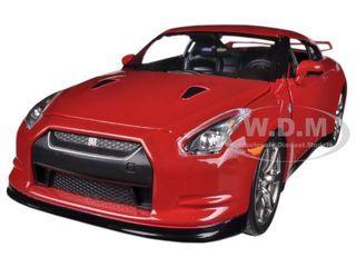 2009 Nissan GT-R R35 Red 1/24 Diecast Car Model Jada 96811