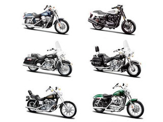 Harley Davidson Motorcycle 6pc Set Series 32 1/18 Maisto 31360-32