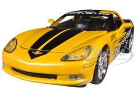2005 Chevrolet Corvette C6 Yellow #9 GT Racing 1/24 Diecast Car Model Motormax 73774