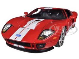 2005 Ford GT Red 1/24 Diecast Car Model by Jada 96732