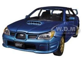 Subaru Impreza WRX STi Blue 1/24 Diecast Car Model Motormax 73330