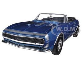 1967 Chevrolet Camaro SS Convertible Blue 1/24 Diecast Car Model Motormax 73301