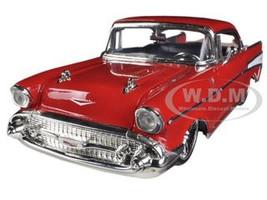 1957 Chevrolet Bel Air Red 1/24 Diecast Car Model Jada 90434