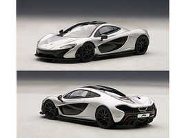 Mclaren P1 Ice Silver 1/43 Diecast Car Model Autoart 56013