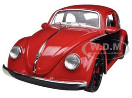 1959 Volkswagen Beetle Red / Black 1/24 Diecast Car Model Jada 91697