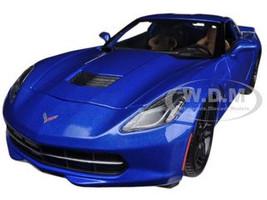 2014 Chevrolet Corvette Stingray C7 Z51 Blue 1/18 Diecast Model Car Maisto 31677
