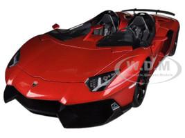 Lamborghini Aventador J Metallic Red 1/18 Diecast Car Model Autoart 74673
