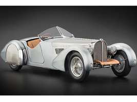 1938 Bugatti 57 SC Corsica Roadster Unpainted Clear Version Limited to 1000pc Worldwide 1/18 Diecast Car Model CMC 134