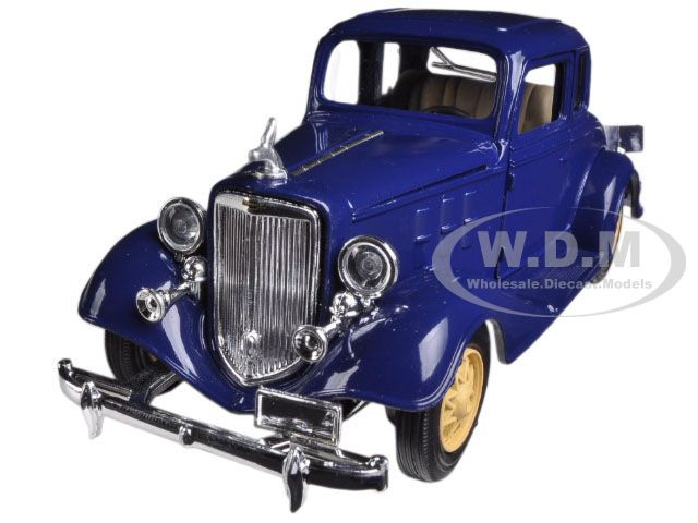1933 Chevrolet 2 Passenger 5 Window Coupe Blue 1/32 Diecast Model Car New Ray 55163