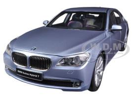 BMW 7 Series Active Hybrid Light Blue 1/18 Diecast Car Model Kyosho 08782