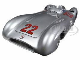 1954 Mercedes W196R Streamliner #22 Herrmann Limited Edition of 1000pc 1/18 Diecast Car Model CMC 128C