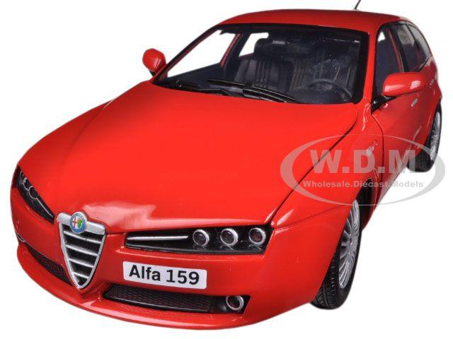 Alfa 159 SW Red 1/18 Diecast Car Model Motormax 79166