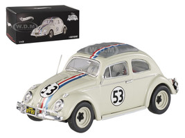 "1962 Volkswagen Beetle ""The Love Bug"" Herbie #53 Elite Edition 1/43 Diecast Car Model Hotwheels BCK07"