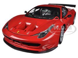 Ferrari 458 Italia GT2 Rosso Corsa Red 1/18 Diecast Car Model Hotwheels BCJ77