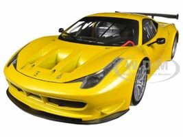 Ferrari 458 Italia GT2 Yellow 1/18 Diecast Car Model Hotwheels BCJ78