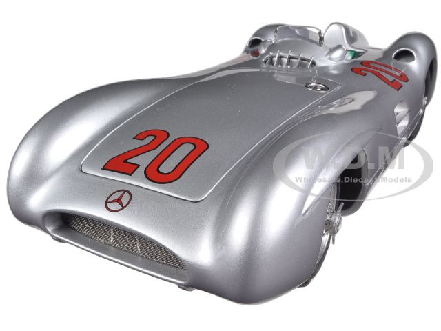 1954 Mercedes W196R Streamliner #20 Kling Reims GP Limited to 1000pc 1/18 Diecast Car Model CMC 128B