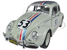 "1963 Volkswagen Beetle ""The Love Bug"" Herbie #53 Elite Edition 1/18 Diecast Car Model Hotwheels BCJ94"