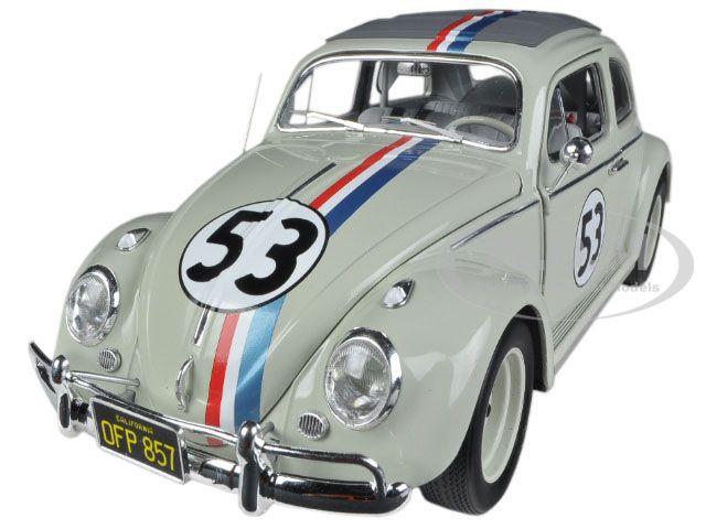 """1963 Volkswagen Beetle """"The Love Bug"""" Herbie #53 Elite Edition 1/18 Diecast Car Model Hotwheels BCJ94"""