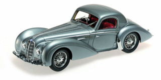 1937 Delahaye Type 145 V-12 Coupe Grey 1/18 Model Car Minichamps 107116120