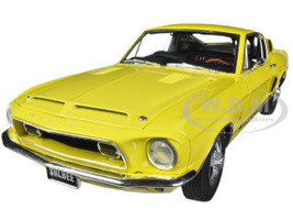 1968 Ford Shelby Mustang GT350 Yellow WT 6066 Release #2 1/18 Diecast Car Model Acme A1801806