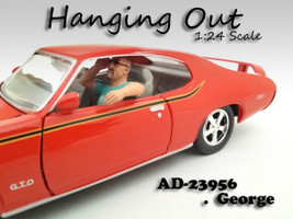 """Hanging Out"" George Figure For 1:24 Scale Models American Diorama"
