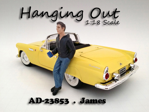 """Hanging Out"""" James Figure For 1:18 Scale Models American Diorama 23853"""